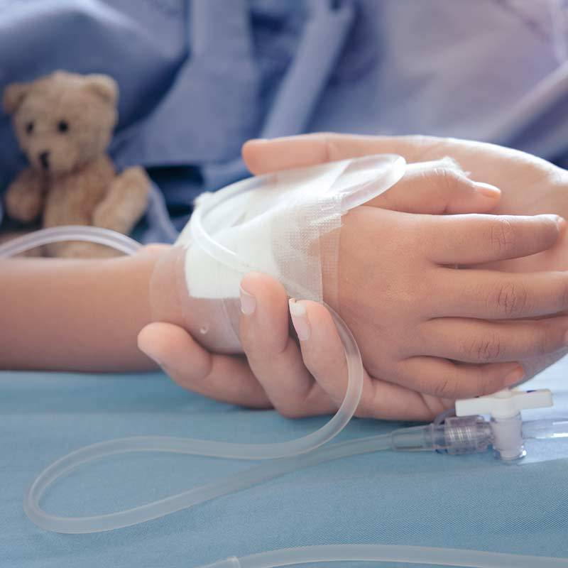 Counselling for Transplants boy in hospital